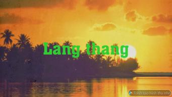 Langthang
